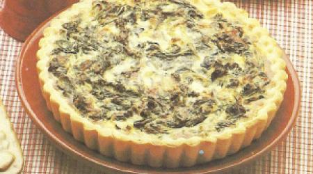 Spinazietaart met kaas